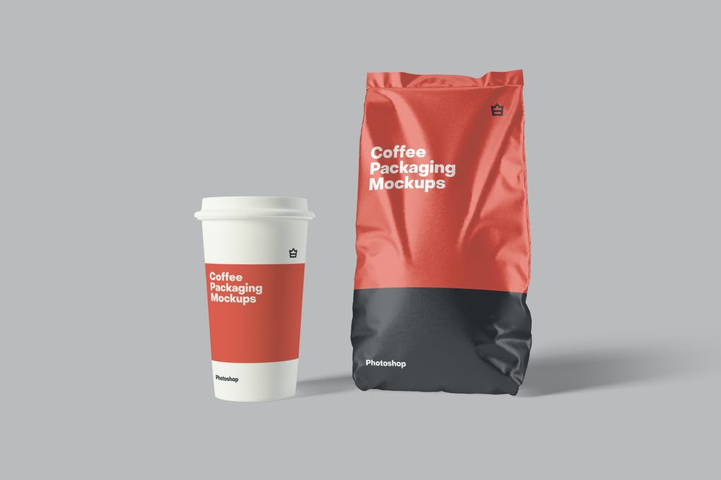 Paper Coffee Cup mockup demo picture ui ux