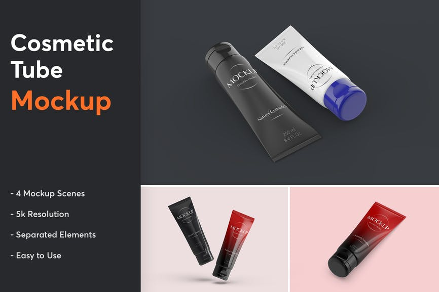 Trending Cosmetic Tube Mockup | ui ux design company in india | Berenike & Bion