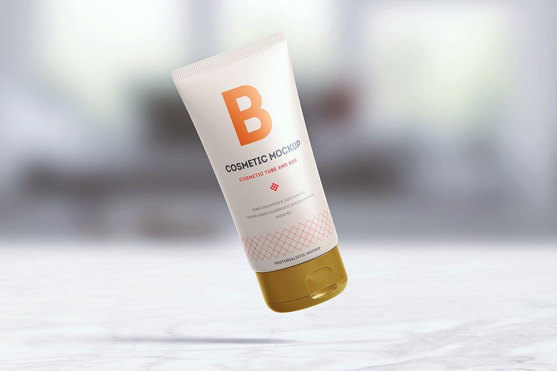 Cream cosmetic Tube Mockup design | UI UX design company in Hyderabad/India | Berenike & Bion Technologies